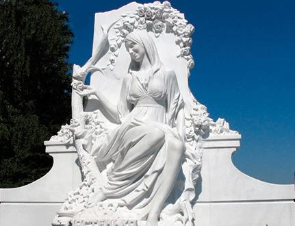 Изготовление памятников из белого мрамора